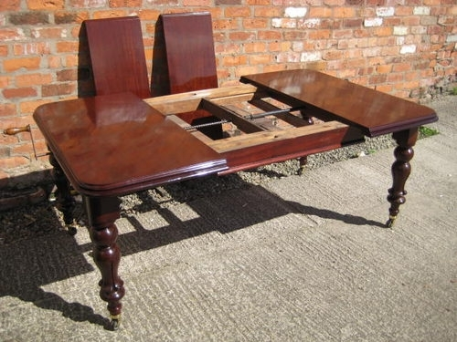 Victorian Mahogany Extending Dining Table – Antiques Atlas With Mahogany Extending Dining Tables (Image 22 of 25)