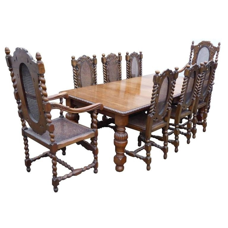 Victorian Solid Oak Dining Table And Eight Chairs At 1Stdibs Pertaining To Dining Tables For Eight (Image 25 of 25)
