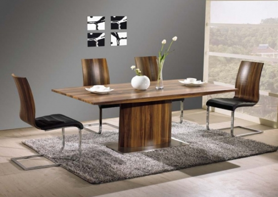 Vida Living Exclusive Messina Walnut Dining Table And 6 Messina In Walnut Dining Tables And 6 Chairs (Image 23 of 25)