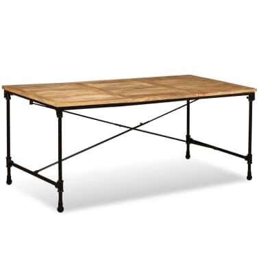 "Vidaxl Dining Table Solid Mango Wood 70.9"" | Vidaxl regarding Mango Wood/iron Dining Tables"