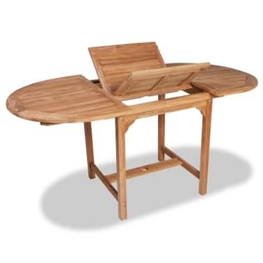 "Vidaxl Teak Outdoor Extendable Dining Table (43.3"" 63"")X31.5""x (Image 25 of 25)"