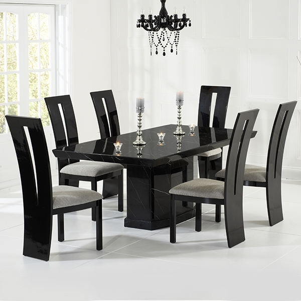 Vienna Black Gloss Dining Chairs Pair – Robson Furniture Throughout Black Gloss Dining Room Furniture (Image 22 of 25)
