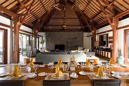 Villa Lilibel, Seminyak, Bali Villa with Bale 6 Piece Dining Sets With Dom Side Chairs