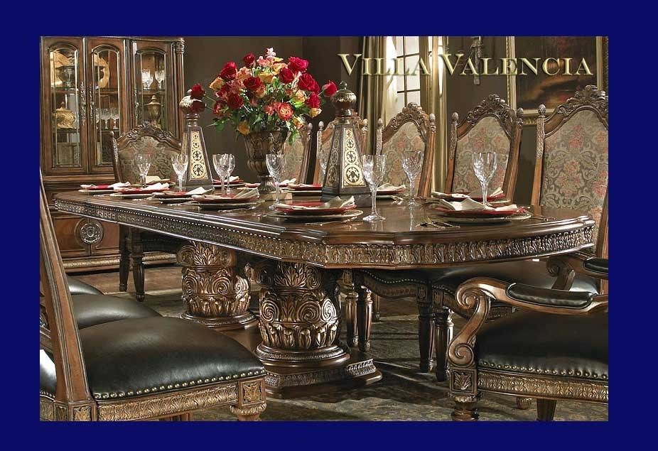 Villa Valencia Round Table Diningaico | Aico Dining Room Furniture Regarding Valencia 60 Inch Round Dining Tables (Image 25 of 25)