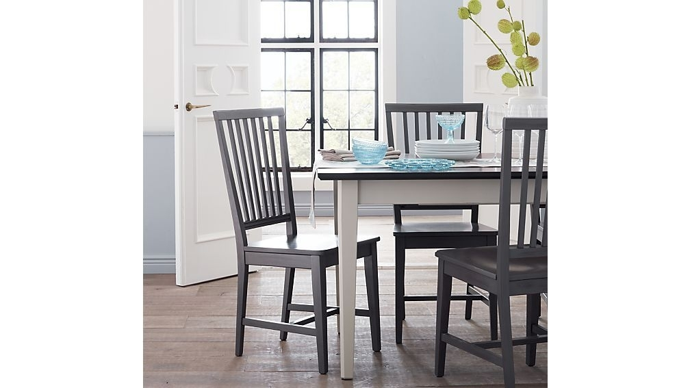Village Grigio Wood Dining Chair And Natural Cushion | Furniture For Teagan Extension Dining Tables (Image 25 of 25)