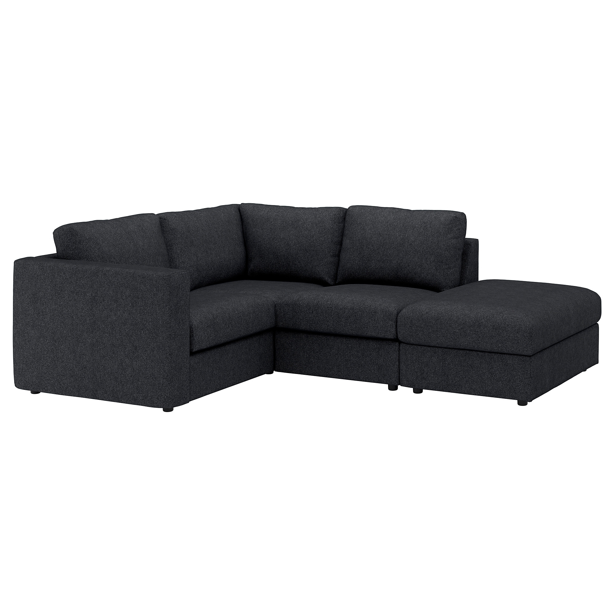 Vimle Sectional, 3-Seat Corner - With Open End/gunnared Dark Green throughout Haven 3 Piece Sectionals