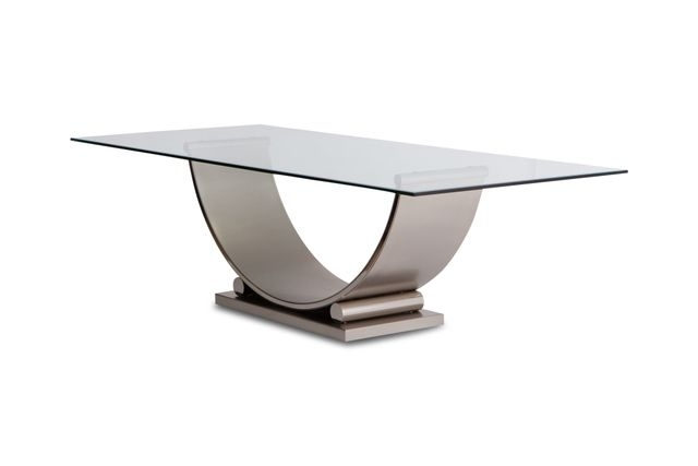 Vintage Brushed Steel Dining Tablemaison Jansen For Belgo Chrom Pertaining To Brushed Steel Dining Tables (Image 22 of 25)