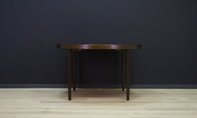 Vintage Danish Circular Oak Dining Table For Sale At Pamono For Circular Oak Dining Tables (View 13 of 25)
