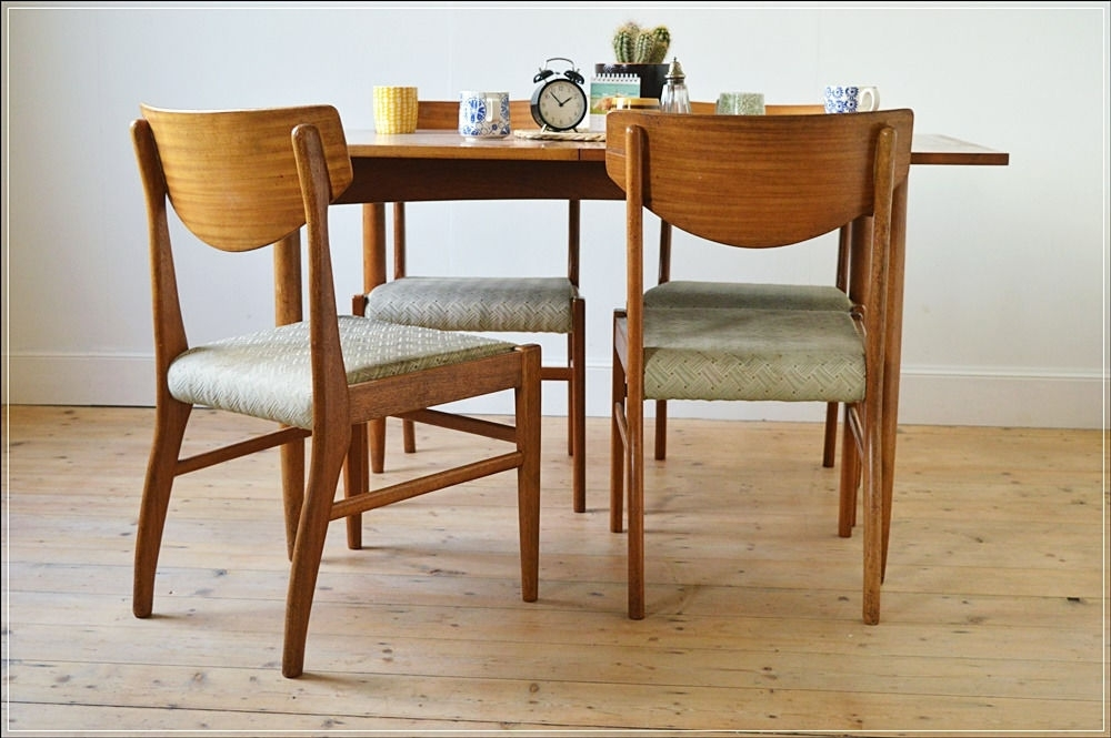 Vintage Dining Chair Chairs Teak Set Of 4Morris Of Glasgow In Glasgow Dining Sets (Image 25 of 25)