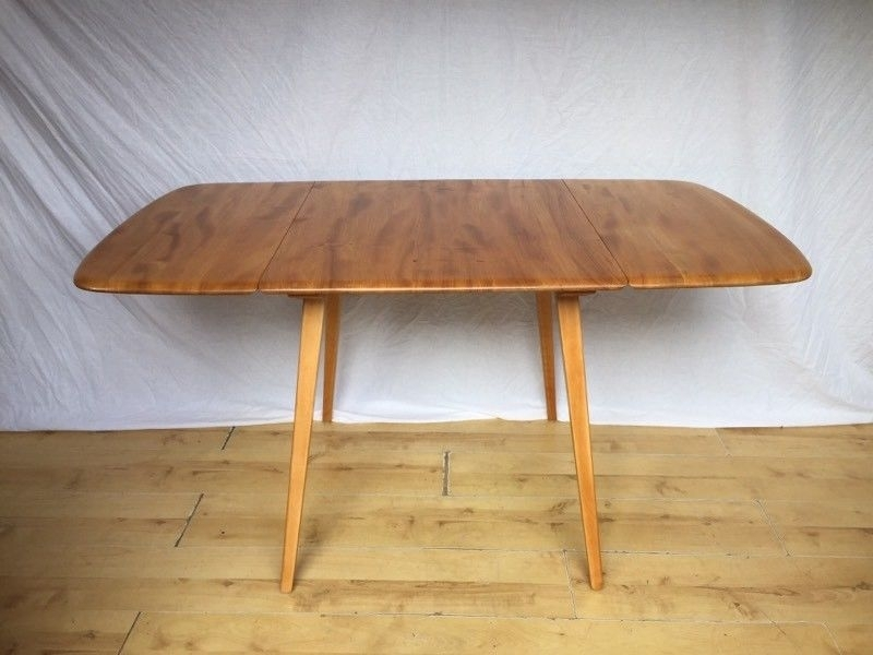 Vintage Ercol Folding Drop Leaf Plank Dining Kitchen | In Norwood Intended For Norwood Rectangle Extension Dining Tables (Image 25 of 25)