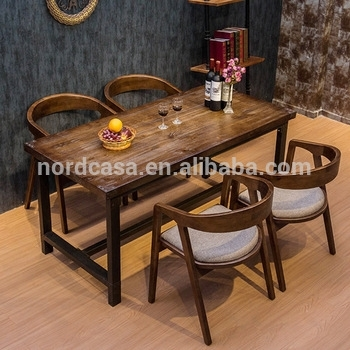 Vintage Industrial Iron Wood Dining Table,for Dining Room Furniture inside Iron and Wood Dining Tables