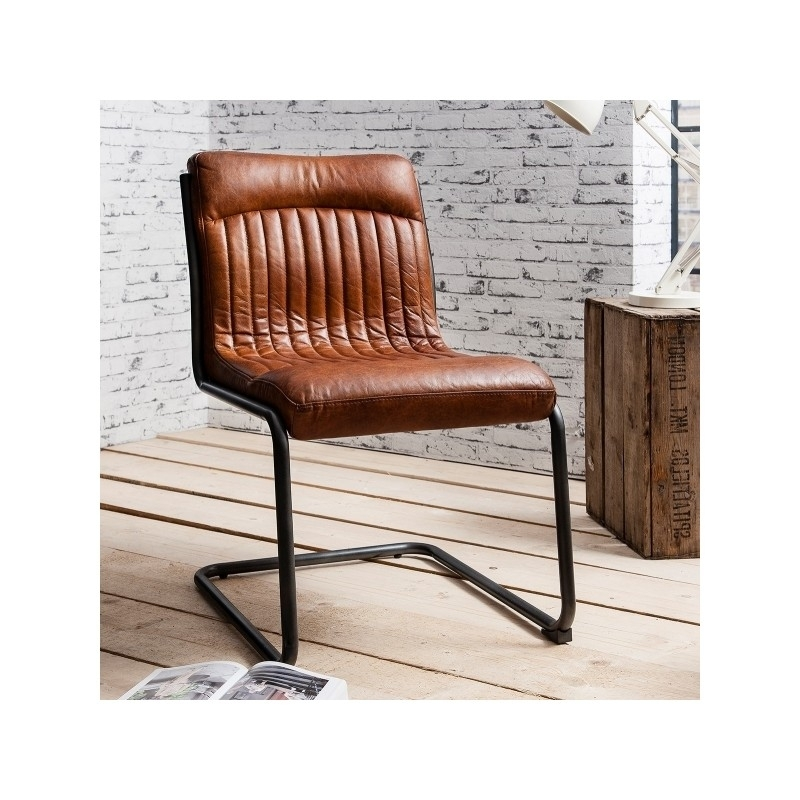 Vintage Leather Dining Chair | Dublin Throughout Real Leather Dining Chairs (Photo 17 of 25)
