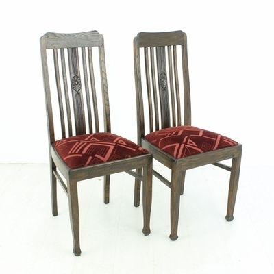 Vintage Oak Dining Chairs, 1920S, Set Of 2 For Sale At Pamono Inside Oak Dining Furniture (View 18 of 25)