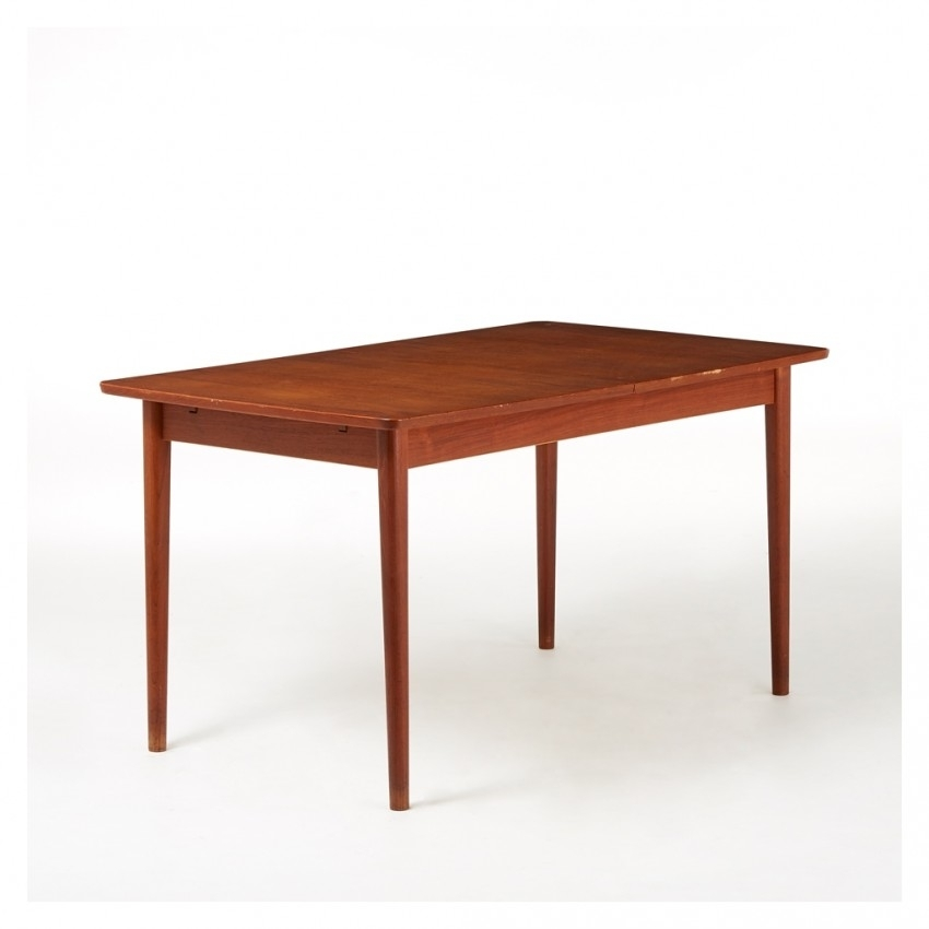 Vintage Rectangular Extending Dining Table Teak C (Image 25 of 25)