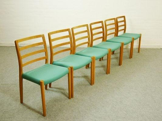 Vintage Scandinavian Oak Dining Chairsniels Otto Møller For J.l (Image 21 of 25)