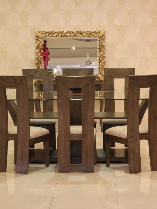 Violet Dining Table Set With 8 Chairs (Ash Wood) | Gmc Inside 8 Chairs Dining Tables (View 8 of 25)