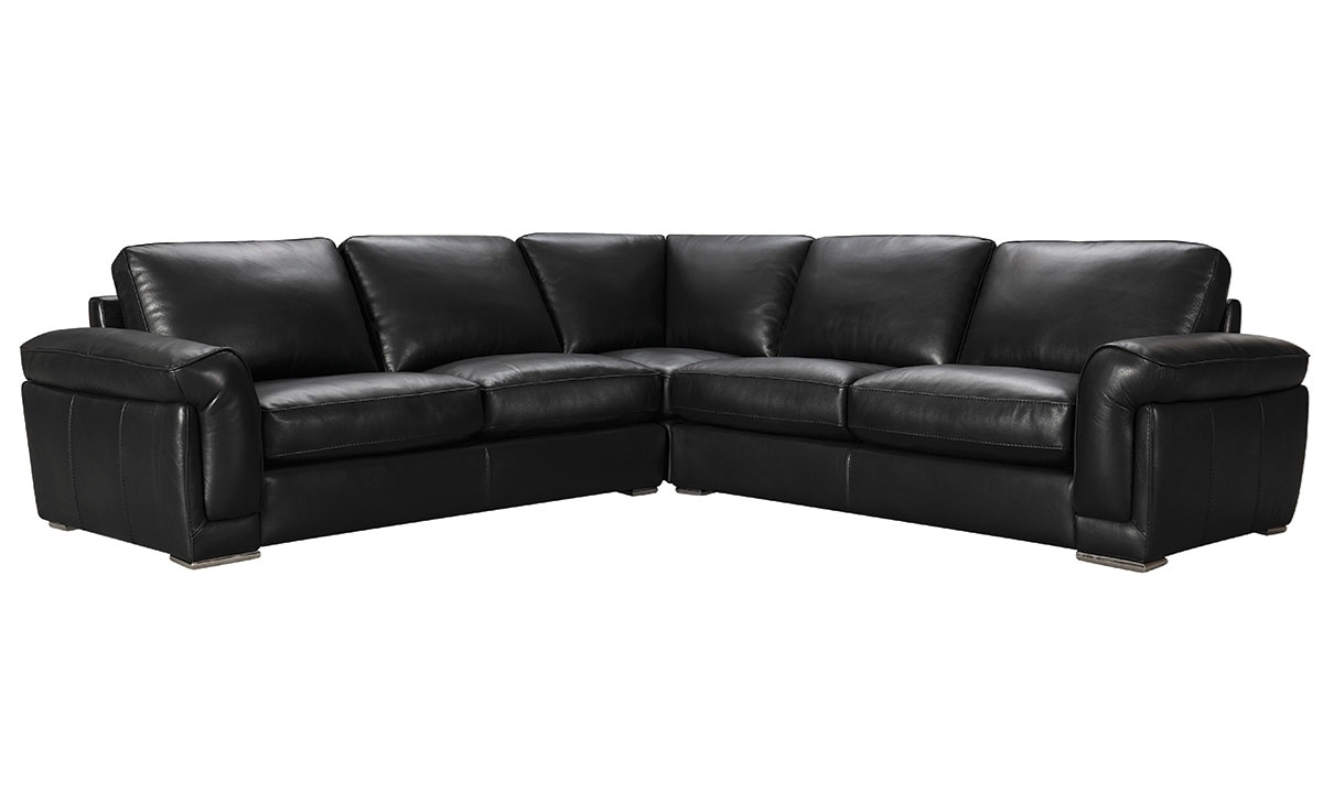 Violino Contemporary Top Grain Leather Sectional | The Dump Luxe For Norfolk Grey 6 Piece Sectionals With Raf Chaise (Image 25 of 25)