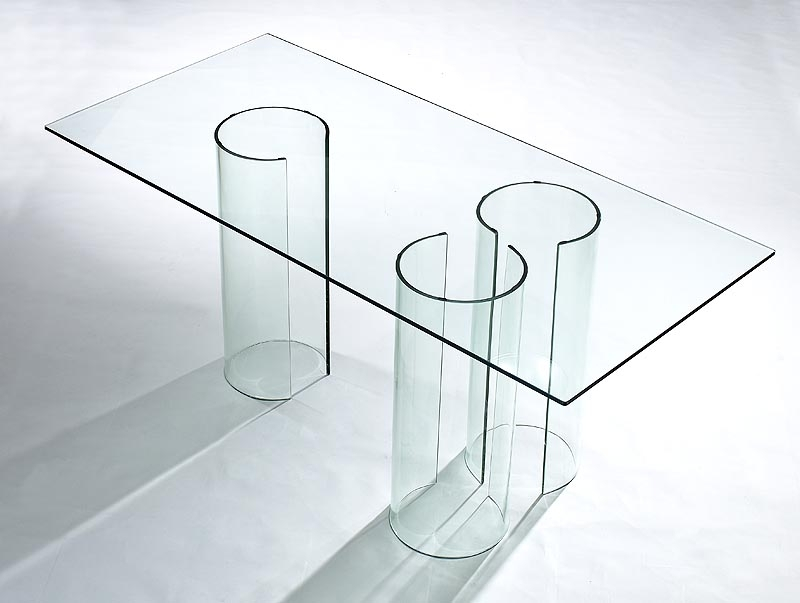 Viva Modern Float Dining Table/desk (Discontinued) Dining Tables Throughout Curved Glass Dining Tables (Image 22 of 25)