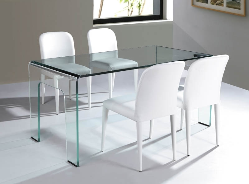 Viva Modern Within Curved Glass Dining Tables (Image 23 of 25)
