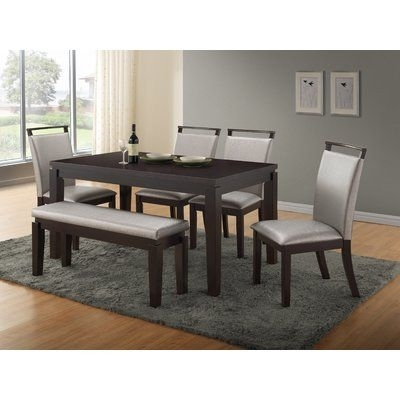 Wade Logan Carmichael 6 Piece Dining Set | Products For Logan 6 Piece Dining Sets (Image 21 of 25)