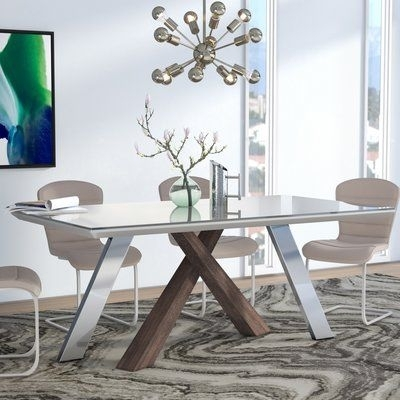 Wade Logan Link Dining Table | Logan, Free Shipping And Products For Logan Dining Tables (Image 21 of 25)