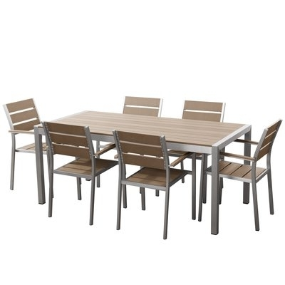 Wade Logan Patio Furniture   Decorating Outside Throughout Logan 7 Piece Dining Sets (Image 21 of 25)