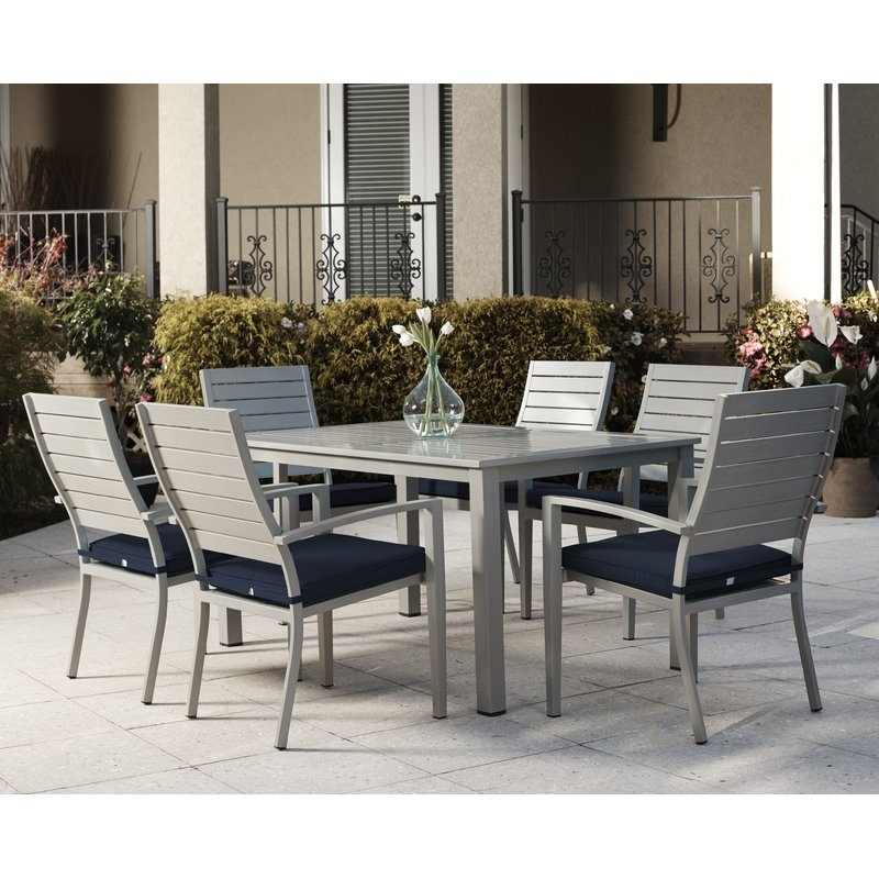 Wade Logan Yohan 7 Piece Dining Set With Cushion & Reviews | Wayfair For Logan 6 Piece Dining Sets (Image 25 of 25)