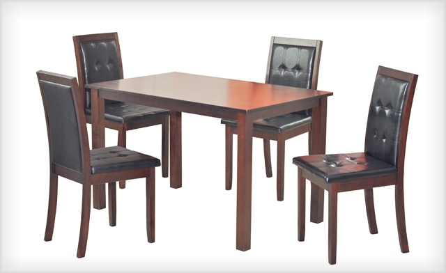 Wagjag: $399 For A 5 Piece Kristin Dining Set (A $799 Value) With Kirsten 5 Piece Dining Sets (View 7 of 25)