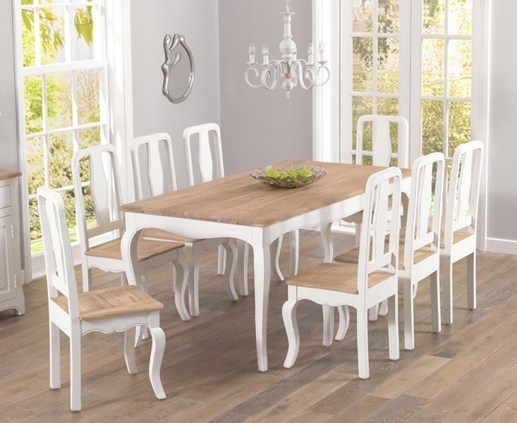Walcott Shabby Chic 175Cm Dining Set With 4 Chairs pertaining to Shabby Chic Dining Chairs