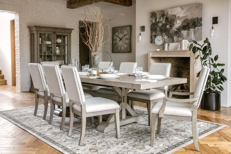 Walden 9 Piece Extension Dining Set | Newport Estates Collection With Regard To Walden 9 Piece Extension Dining Sets (Image 24 of 25)