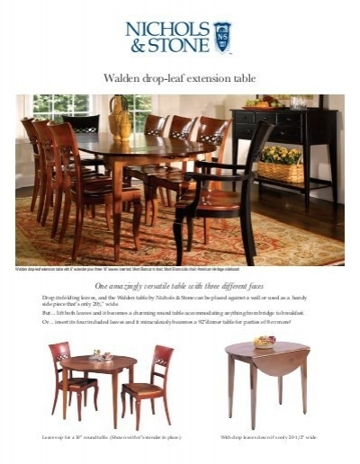 Walden Drop Leaf Extension Table – Stickley With Regard To Walden Extension Dining Tables (Image 20 of 25)