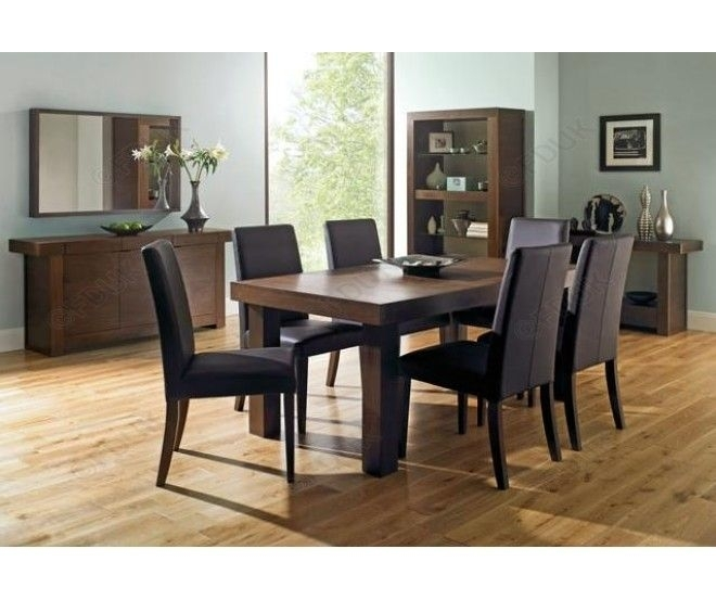 Walnut 4 6 Extension #table With 6 Chairs Has A Rectangular #dining Within Extending Dining Tables 6 Chairs (View 17 of 25)
