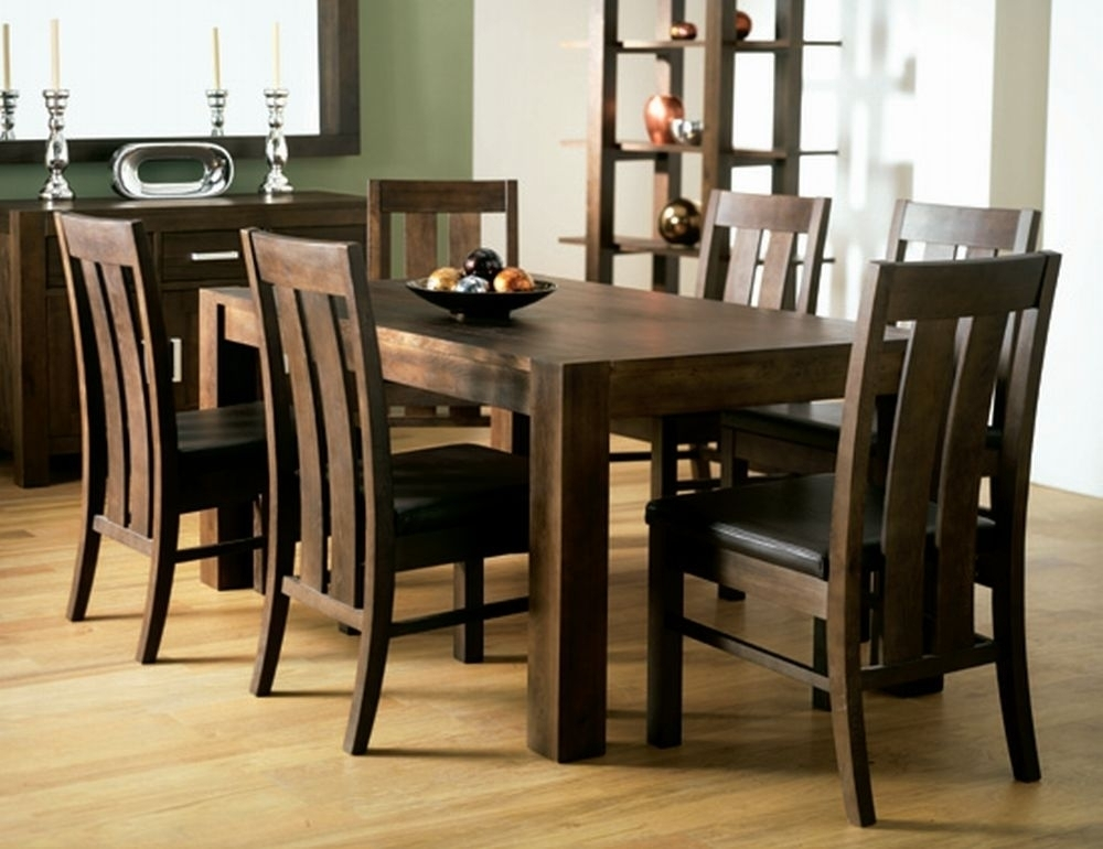 Walnut Dining Room Chairs Regarding Walnut Dining Tables And Chairs (View 14 of 25)