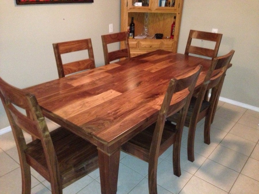 Walnut Dining Room Set Jeff Tobert @ Lumberjocks Within Walnut Dining Tables And Chairs (View 8 of 25)