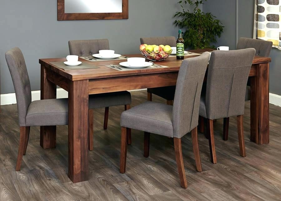 Walnut Dining Table And 6 Chairs 4 Set Brown Amp Oval Inside Walnut Dining Table Sets (Image 20 of 25)