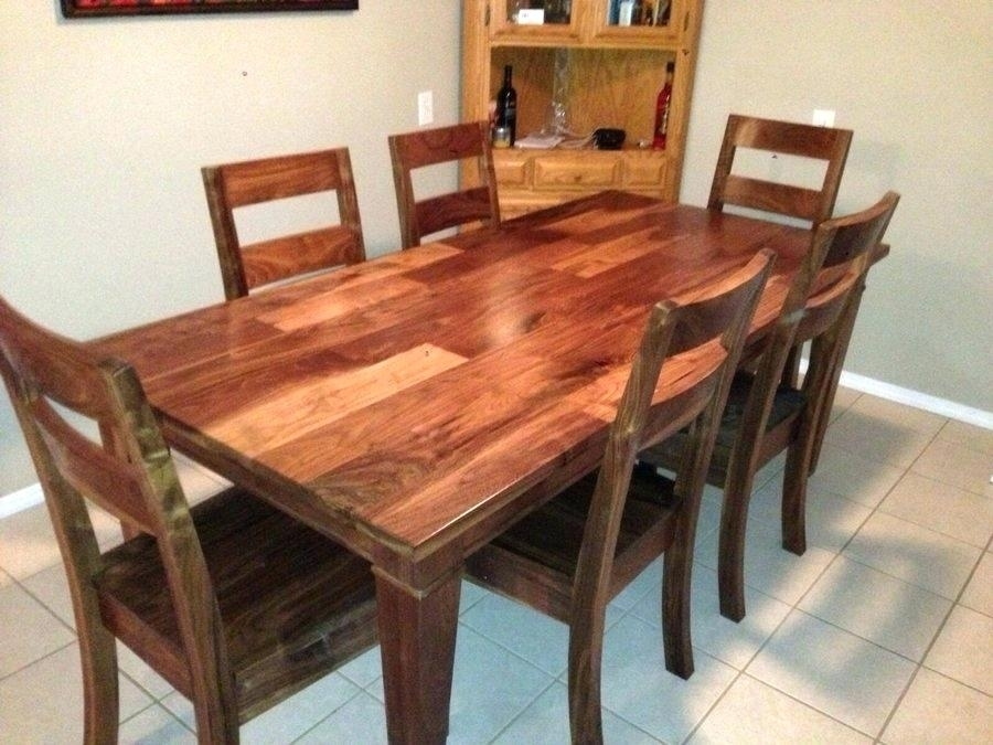 Walnut Dining Table Set Walnut Dining Room Table And Chairs – Bcrr With Regard To Walnut Dining Table Sets (Image 22 of 25)