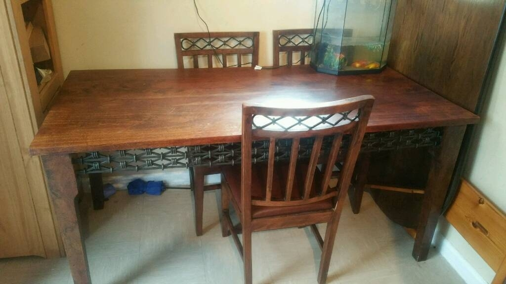 Walnut Dining Table With 6 Chairs | In Guildford, Surrey | Gumtree In Walnut Dining Table And 6 Chairs (View 19 of 25)