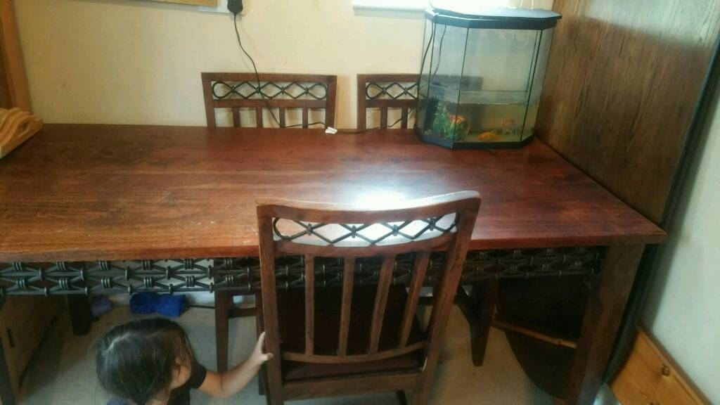 Walnut Dining Table With 6 Chairs | In Guildford, Surrey | Gumtree Throughout Walnut Dining Tables And 6 Chairs (Image 25 of 25)