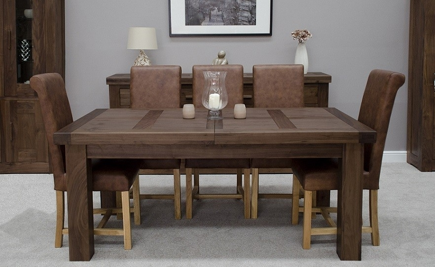 Walnut Dining Tables And Chairs – Durable Walnut Dining Table Pertaining To Walnut Dining Tables And Chairs (Image 21 of 25)