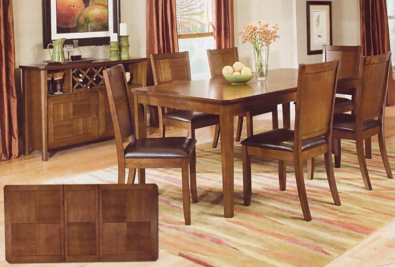 Walnut Finish Dining Room Set | Casual Dinette Sets In Walnut Dining Tables And Chairs (View 7 of 25)