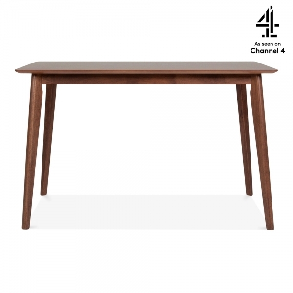 Walnut Milton Wooden Dining Table Walnut 120Cm | Cult Furniture With Regard To Milton Dining Tables (Image 24 of 25)
