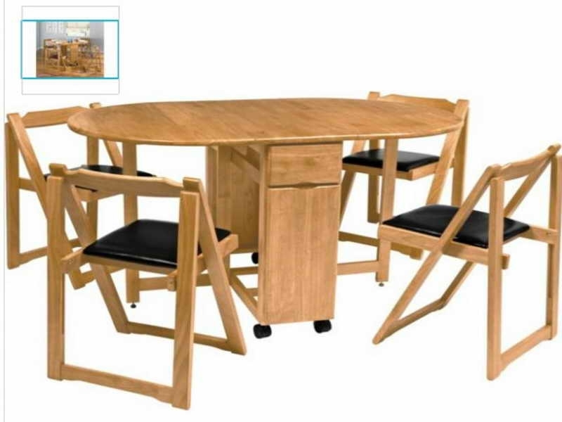 Warm Wooden Dining Furniture For Folding Styles With Black Cushioned Inside Black Folding Dining Tables And Chairs (View 4 of 25)
