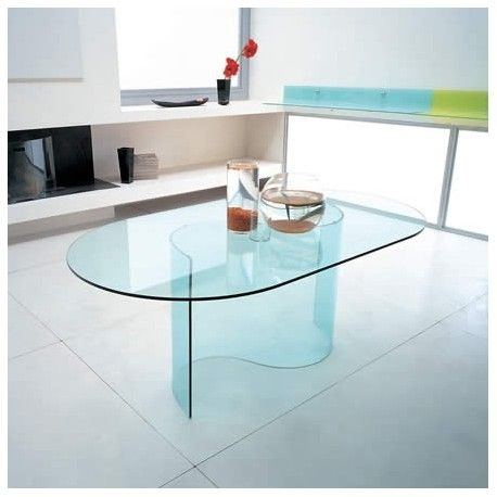 Wave Glass Dining Table (Image 24 of 25)