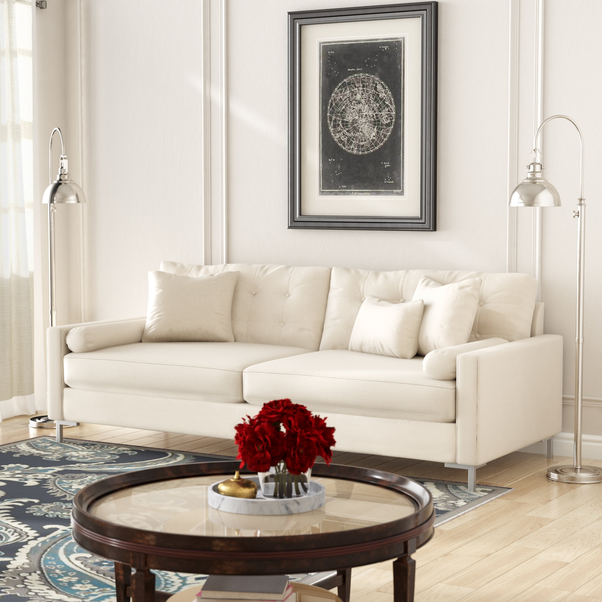 Wayfair Custom Upholstery™ Harper Sofa With Metal Legs & Reviews Pertaining To Harper Down 3 Piece Sectionals (Image 25 of 25)