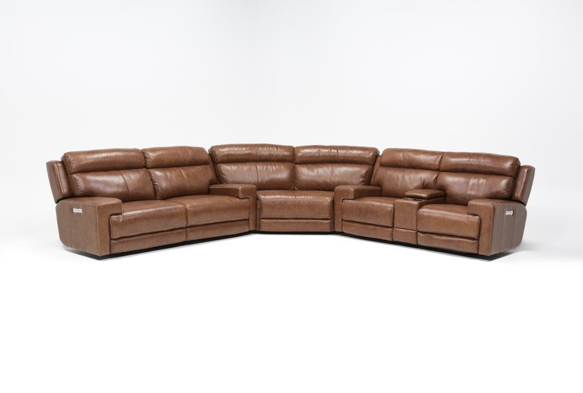 Waylon 3 Piece Power Reclining Sectional | Living Spaces Intended For Clyde Saddle 3 Piece Power Reclining Sectionals With Power Headrest & Usb (Image 25 of 25)