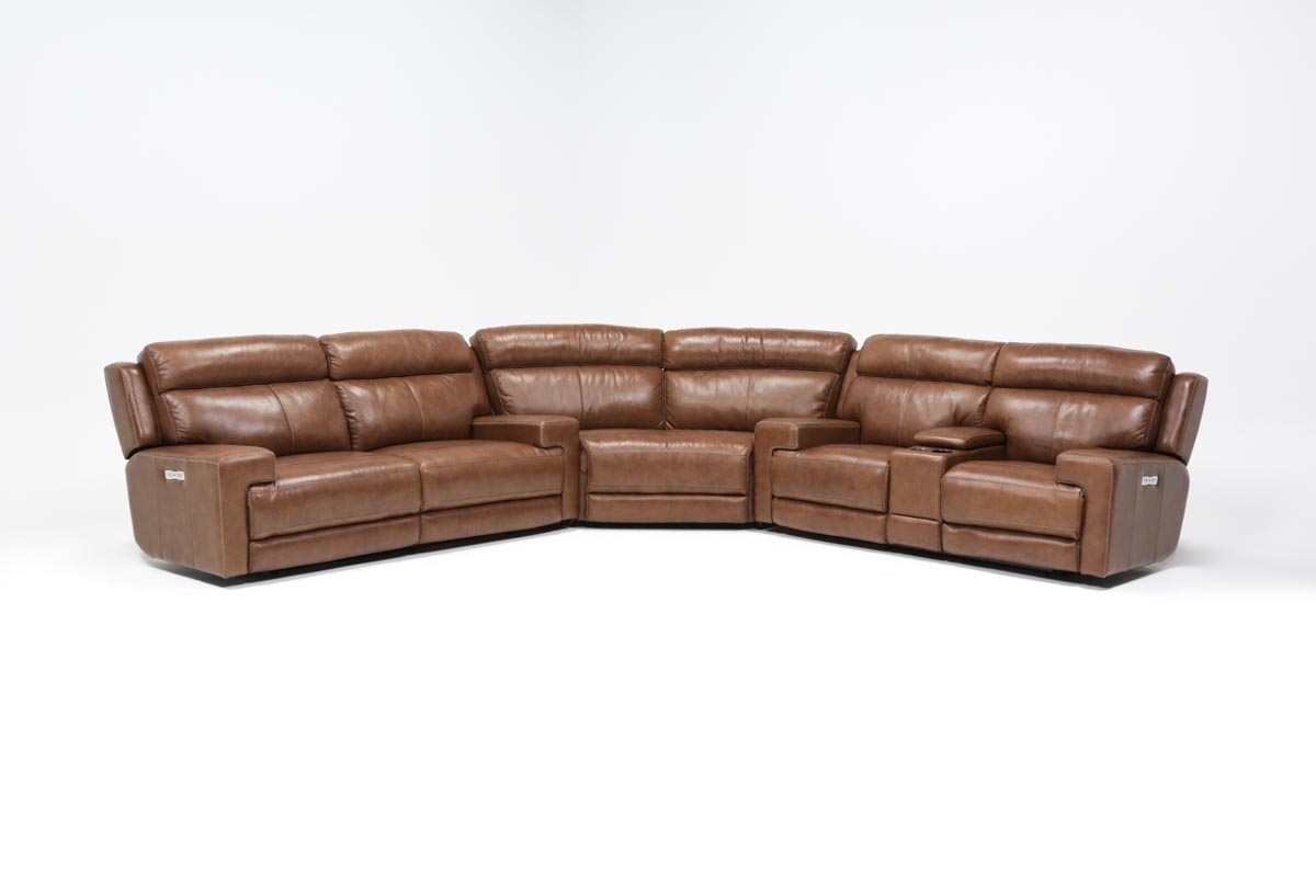 Waylon 3 Piece Power Reclining Sectional | Living Spaces Throughout Clyde Grey Leather 3 Piece Power Reclining Sectionals With Pwr Hdrst & Usb (Image 25 of 25)
