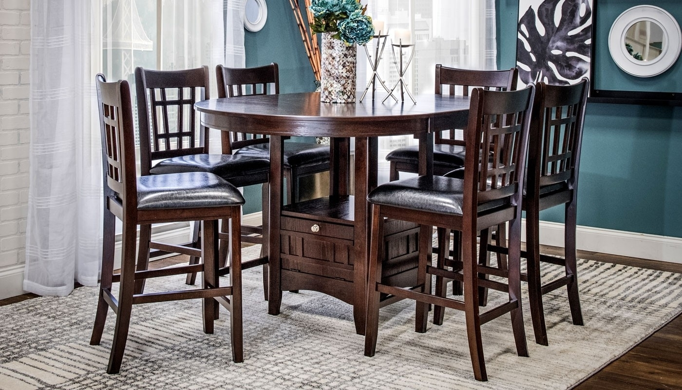 Waylon Ii 5 Piece Dining Collection – Home Zone Furniture | Dining Room Pertaining To Waylon 3 Piece Power Reclining Sectionals (View 17 of 25)