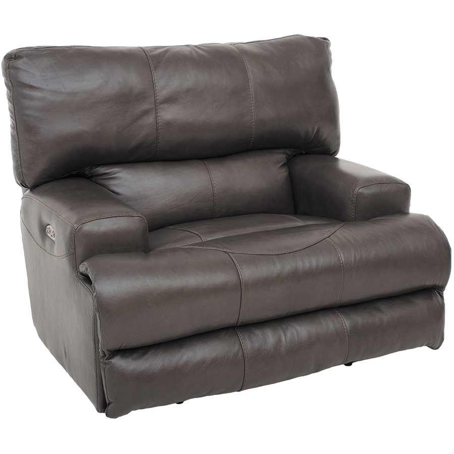 Wembley Steel Italian Leather Power Recliner 0K2 4580P | Jackson Intended For Jackson 6 Piece Power Reclining Sectionals With  Sleeper (Image 25 of 25)