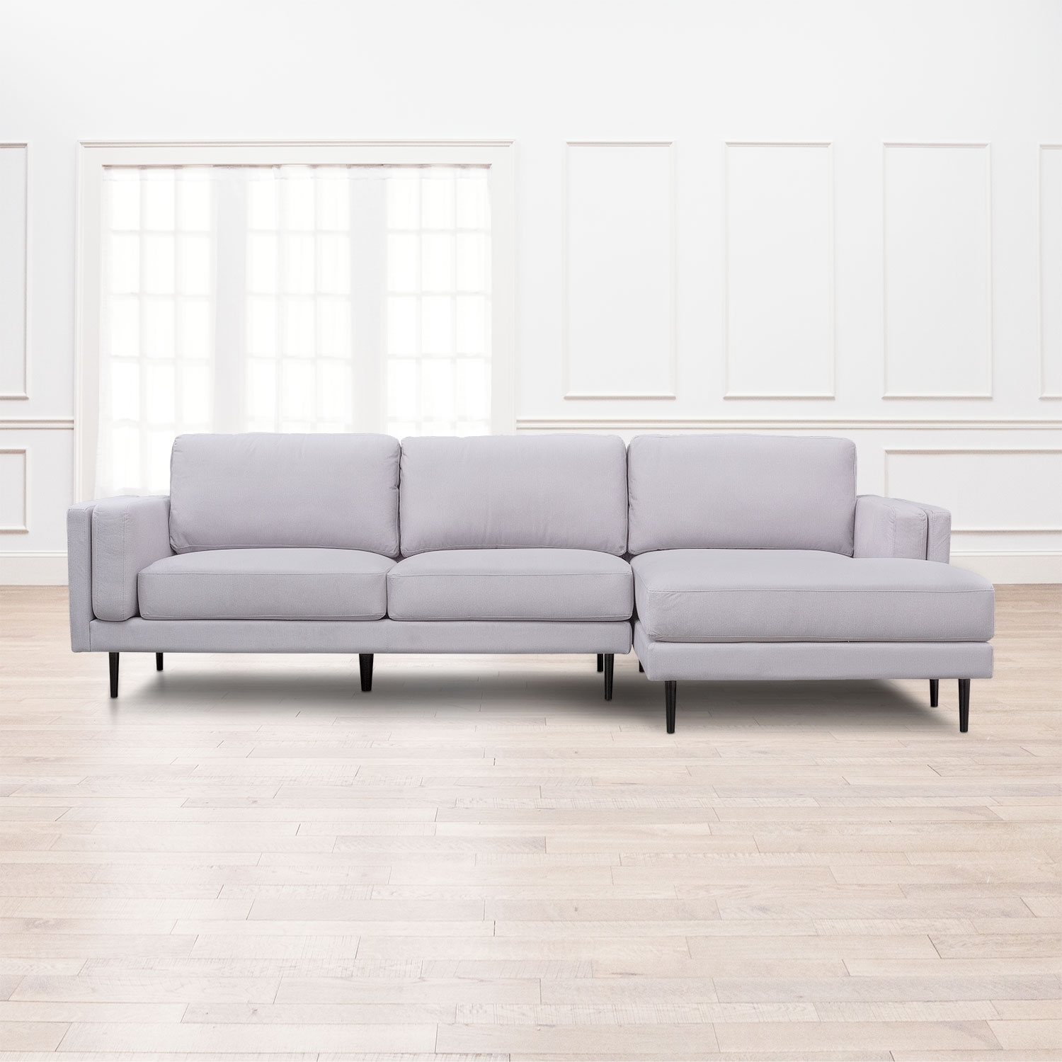 West End 2 Piece Sectional With Right Facing Chaise – Light Gray In Mcdade Graphite 2 Piece Sectionals With Raf Chaise (Image 25 of 25)