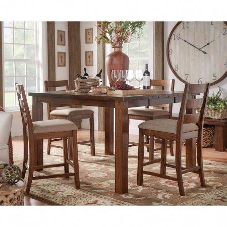Weston Home Ronan Counter Height Rustic Chair, Set Of 2 - Walmart with regard to Norwood 9 Piece Rectangular Extension Dining Sets With Uph Side Chairs